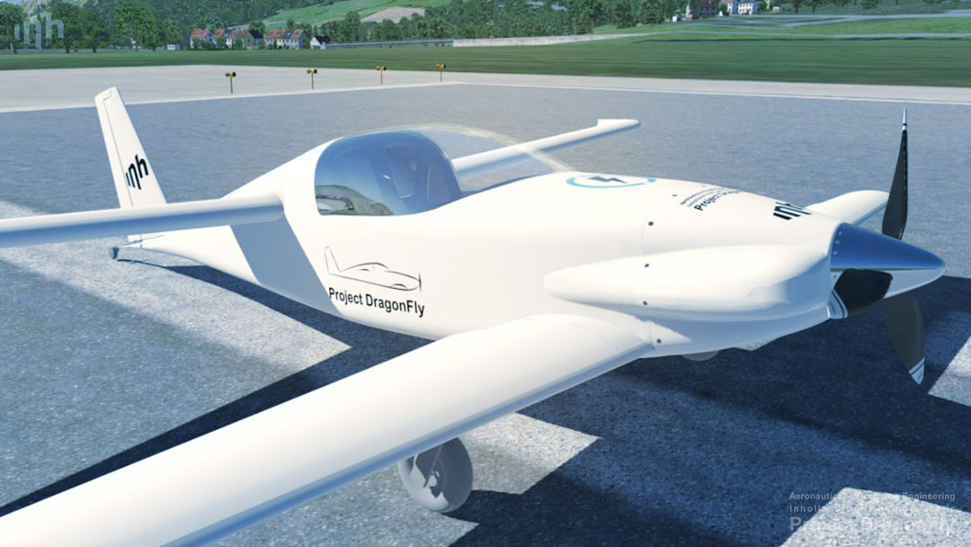project dragonfly aeronautical & precision engineering inholland university of applied sciences delft the netherlands electric propulsion sustainable aviation simulation digital twin augmented reality small composites lightweight aircraft retrofit zero emission free Dutch initiative